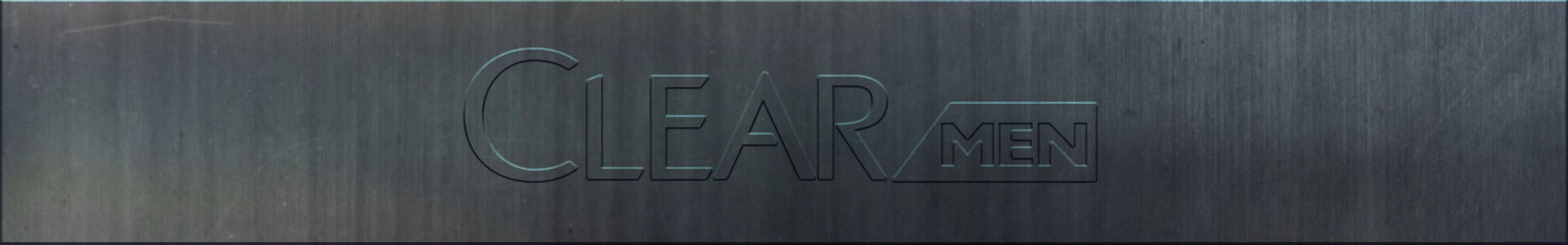 Clear Men Metal Logo